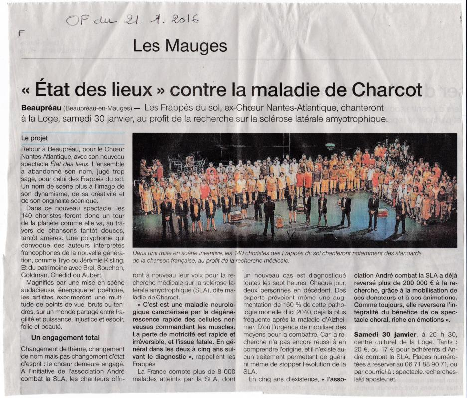 Article Ouest France Beaupréau